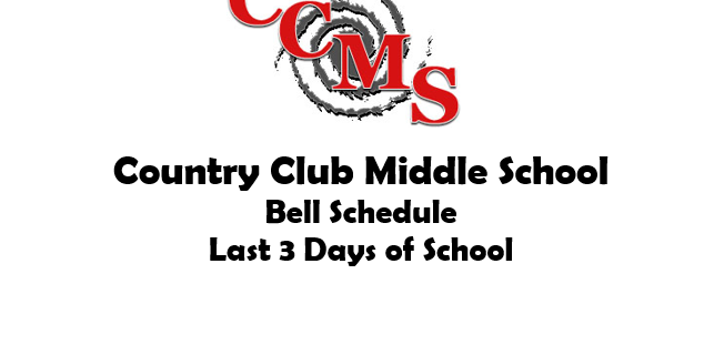 Schedule Last 3 Days of School
