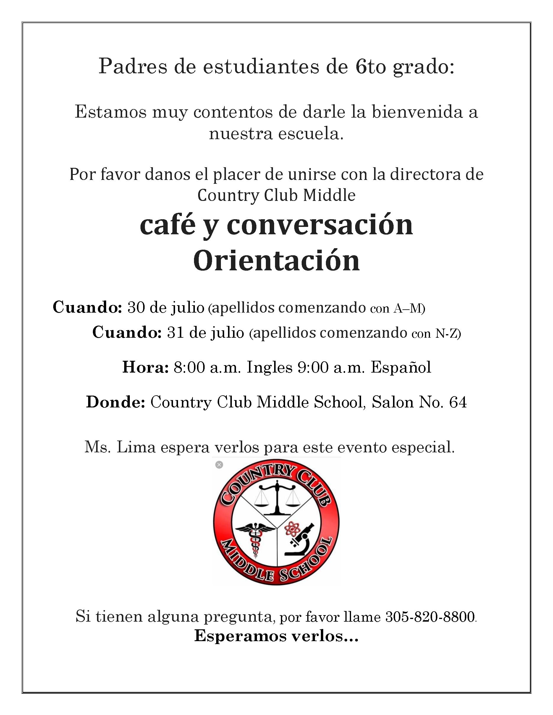 café y conversación Orientación (apellidos comenzando con A–M) @ Salon No. 64
