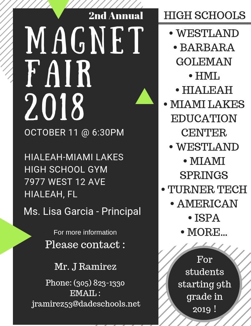 Region Magnet Fair @ Hialeah Miami-Lakes High School Gym