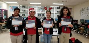 These students have earned their Microsoft certification.
