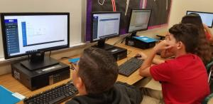 Students working on MSiK12.com which is the learning platform we use to learn Microsoft Office Products. The class allows students the opportunity to get certified in the Microsoft products becoming Microsoft Office Specialists.