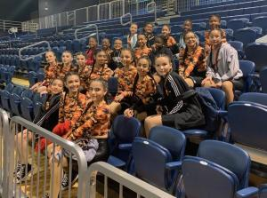 Dance Team performing at the FIU Men's Basketball Game